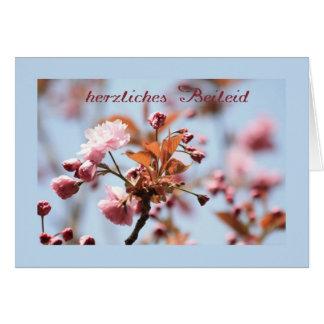 pink blossom sympathy card german