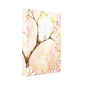 Pink Blossom View Canvas
