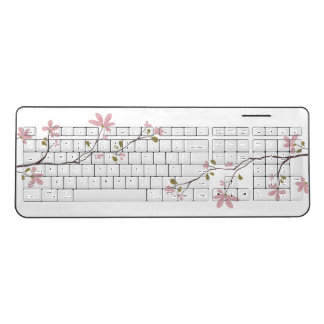 Pink Blossom Wireless Keyboard