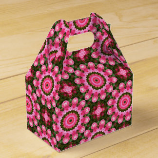 Pink Blossoms, Floral mandala-style Favor Box
