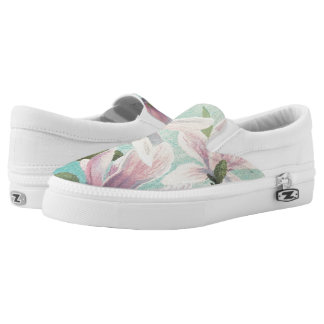 Pink Blossoms from the South Slip-On Sneakers