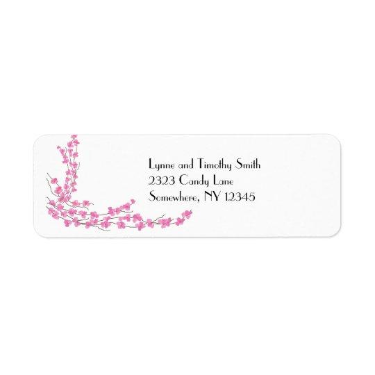 Pink Blossoms Return Address Label