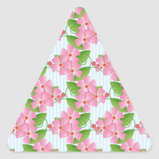 Pink Blossoms Triangle Stickers