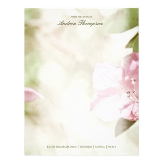 Pink Blossoms Wedding Letterhead