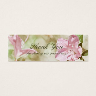 Pink Blossoms Wedding TinyThank You Cards