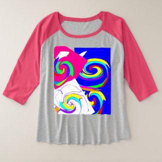 Pink blouse plus size raglan T-Shirt