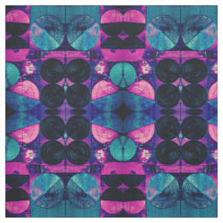 Pink & Blue 369 Abstract Fabric