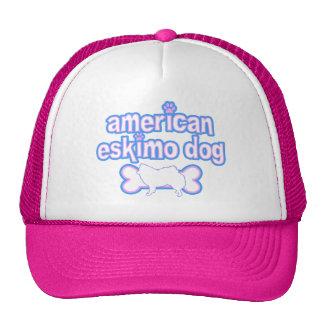 Pink & Blue American Eskimo Dog Trucker Hat