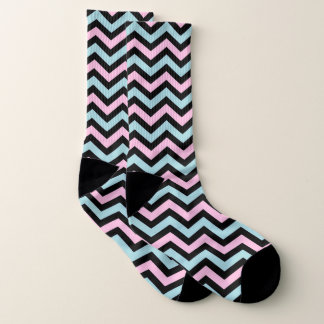 Pink blue and black chevron 1