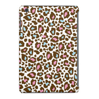 Pink, Blue, and Brown Leopard Spotted Animal Print iPad Mini Case