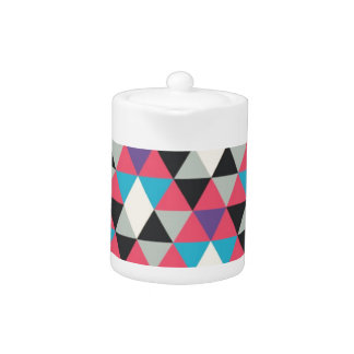 Pink Blue and White Triangle Pattern