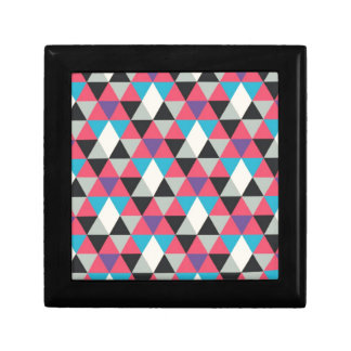 Pink Blue and White Triangle Pattern Gift Box