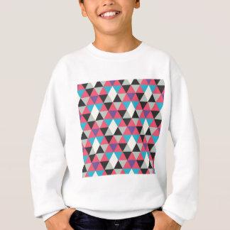 Pink Blue and White Triangle Pattern Sweatshirt