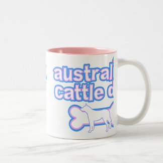 Pink & Blue Australian Cattle Dog Two-Tone Coffee Mug