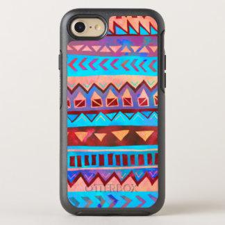 Pink Blue Aztec Tribal Pattern OtterBox Symmetry iPhone 7 Case