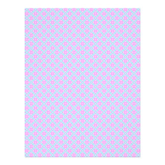 Pink & Blue Baby Plaid Scrapbook Craft Paper Pages Letterhead Template