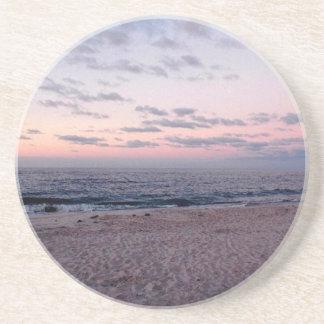 'Pink & Blue Beach at Dawn' Coaster
