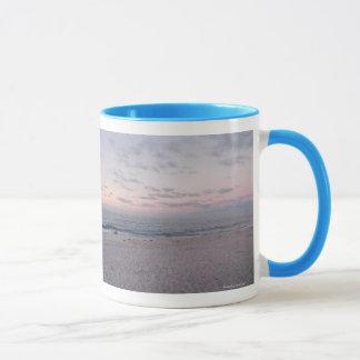 'Pink & Blue Beach at Dawn' Mug