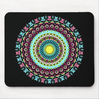 Pink & Blue Big Round Lace Mouse Pad