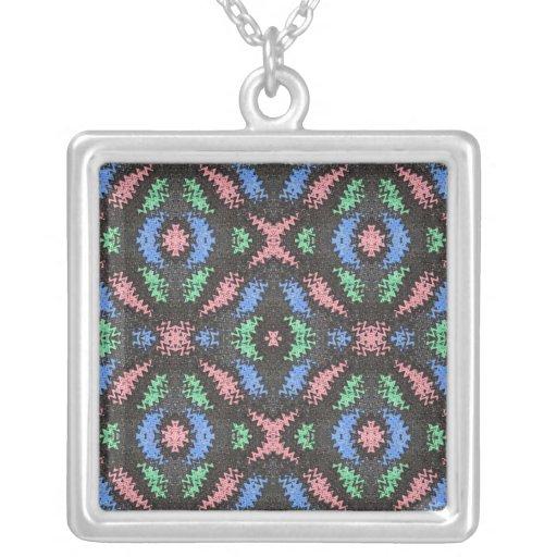 pink blue black abstract custom jewelry