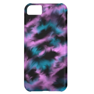 Pink, blue, black mixture iPhone 5C cover