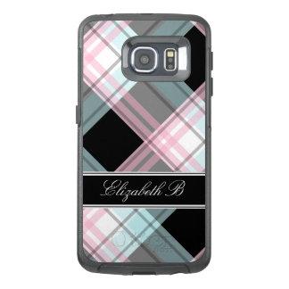 Pink Blue Black Plaid Samsung Galaxy S6 Edge Case