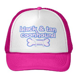 Pink & Blue Black & Tan Coonhound Trucker Hats