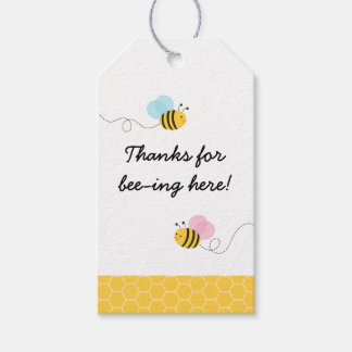 Pink & Blue Bumble Bee Gender Reveal Pack Of Gift Tags