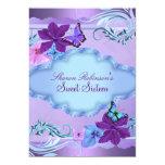 "Pink & Blue Butterfly Garden Sweet 16 Invite 5"" X 7"" Invitation Card"