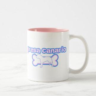 Pink & Blue Canary Dog Mug