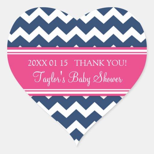 Pink Blue Chevron Baby Shower Favor Stickers