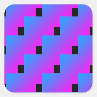 Pink Blue Cool 4Jojo Square Sticker