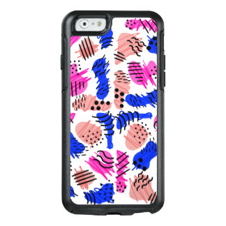 Pink Blue Coral Retro 80's 90's Doodle OtterBox iPhone 6/6s Case
