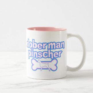 Pink & Blue Doberman Pinscher Mug