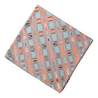 Pink Blue Earth Toned Pattern Bandana