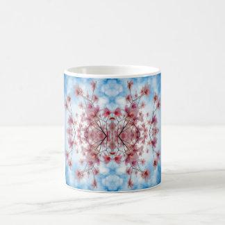 Pink Blue Floral Decorative Pattern Coffee Mug