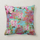 Pink & Blue Floral  Pillow