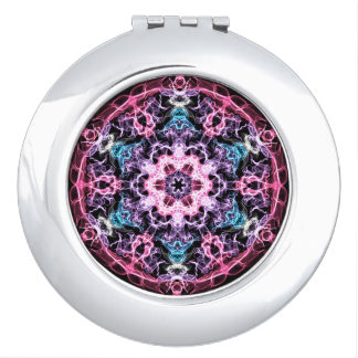 Pink, Blue Fractal Compact Mirrors