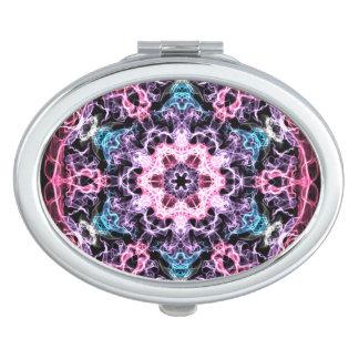 Pink, Blue Fractal Vanity Mirrors