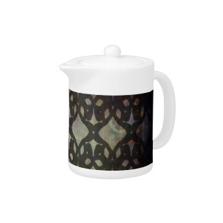 Pink Blue Geo Small Teapot