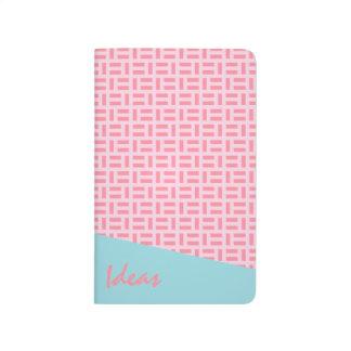Pink & Blue Geometric Patterned Custom Journal