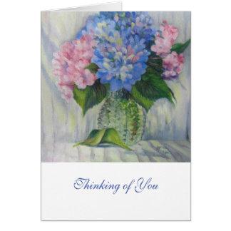 """Pink, Blue, & Glass"" Card"