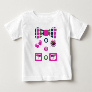Pink Blue Green Polka Dots Clown Halloween Costume Baby T-Shirt