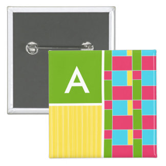 Pink, Blue, Green, & Yellow Rectangles Buttons