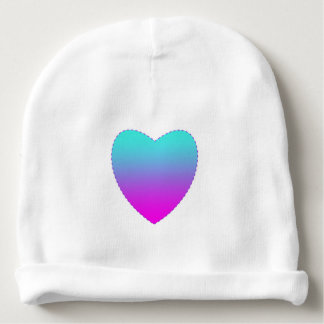Pink/blue heart baby beanie