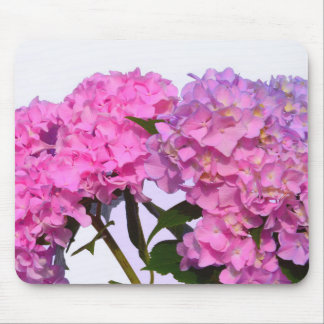 Pink & Blue  Hydrangeas Mouse Pad
