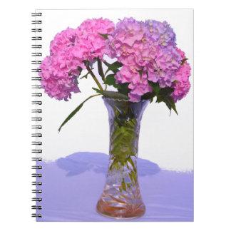 Pink & Blue  Hydrangeas Spiral Notebooks