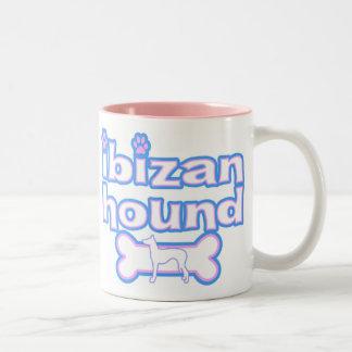 Pink & Blue Ibizan Hound Mug
