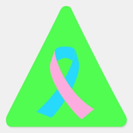 Pink & Blue - Infertility Awareness Ribbon Stickers