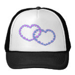 Pink & Blue Linked Hearts Hat